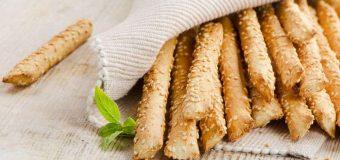 Grissini al sesamo: uno snack buono e ipocalorico