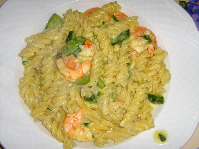 Pasta con zucchine e gamberetti Ricette dietetiche